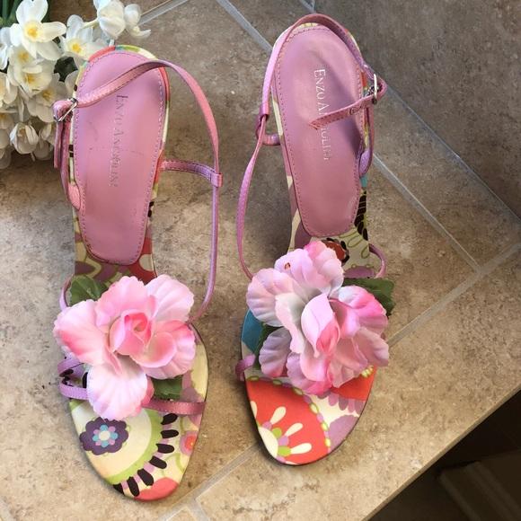 Enzo Angiolini Shoes - FABULOUS HEELS!! Pink hibiscus heels- size 9.5